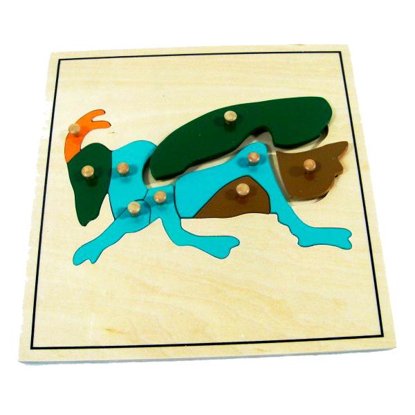 Montessori hračky - Cvrček (puzzle)